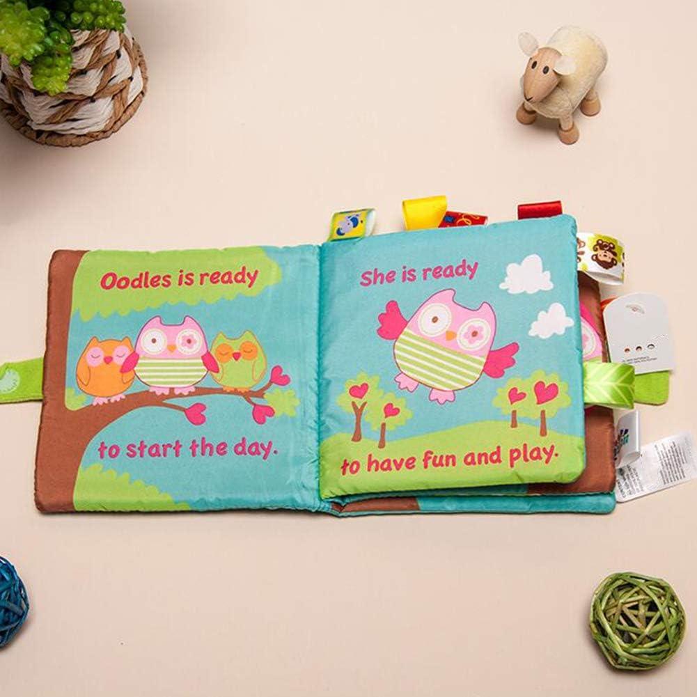 Xiton Baby-Tuch-B/ücher Weiche Nontoxic Stoff Fr/üherziehung Spielzeug Aktivit/ät Crinkle-Tuch-Buch F/ür Kleinkind S/äuglinge Und Kinder 1pc AFFE