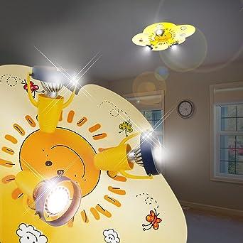 Mia Light Wolke Decken Strahler Kindergelblampe Leuchte