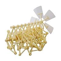 Ueetek Funny Wind Powered DIY Walker robot jouet éducatif Kits de modèle d'assemblage