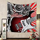 Gzhihine Custom tapestry Music Decor Tapestry Ukulele With Hawaii Style Background Wooden Classical Vacation Stylized Bedroom Living Room Dorm Decor