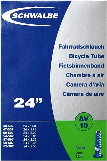 DV/AV Schwalbe – Cámara de aire para bicicletas (24 1 x o 2 x ...
