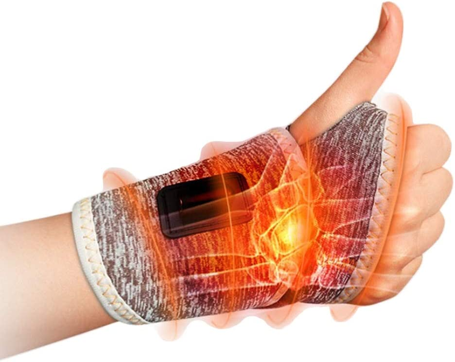 LKIUGD Hand and Wrist Far Infrared Heating Pad with 3 Level Controller,for Hand Arthritis, Carpal Tunnel Pain, Tendonitis, Chronic Injuries Hot and Cold Therapy