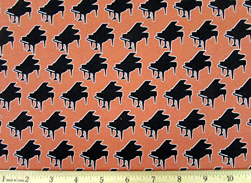 Dan Morris Perfect Pitch Piano Copper Fabric Sold by The Yard
