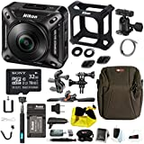 Nikon Keymisson 360 Wi-Fi 4K Action Camera with 32GB card and Bike Accessory Kit