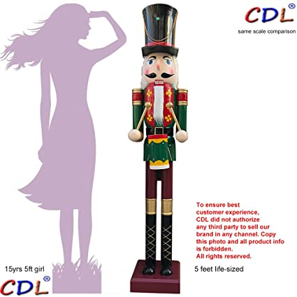 cdl 605ft tall life size largegiant christmas wooden nutcracker soldier drummer