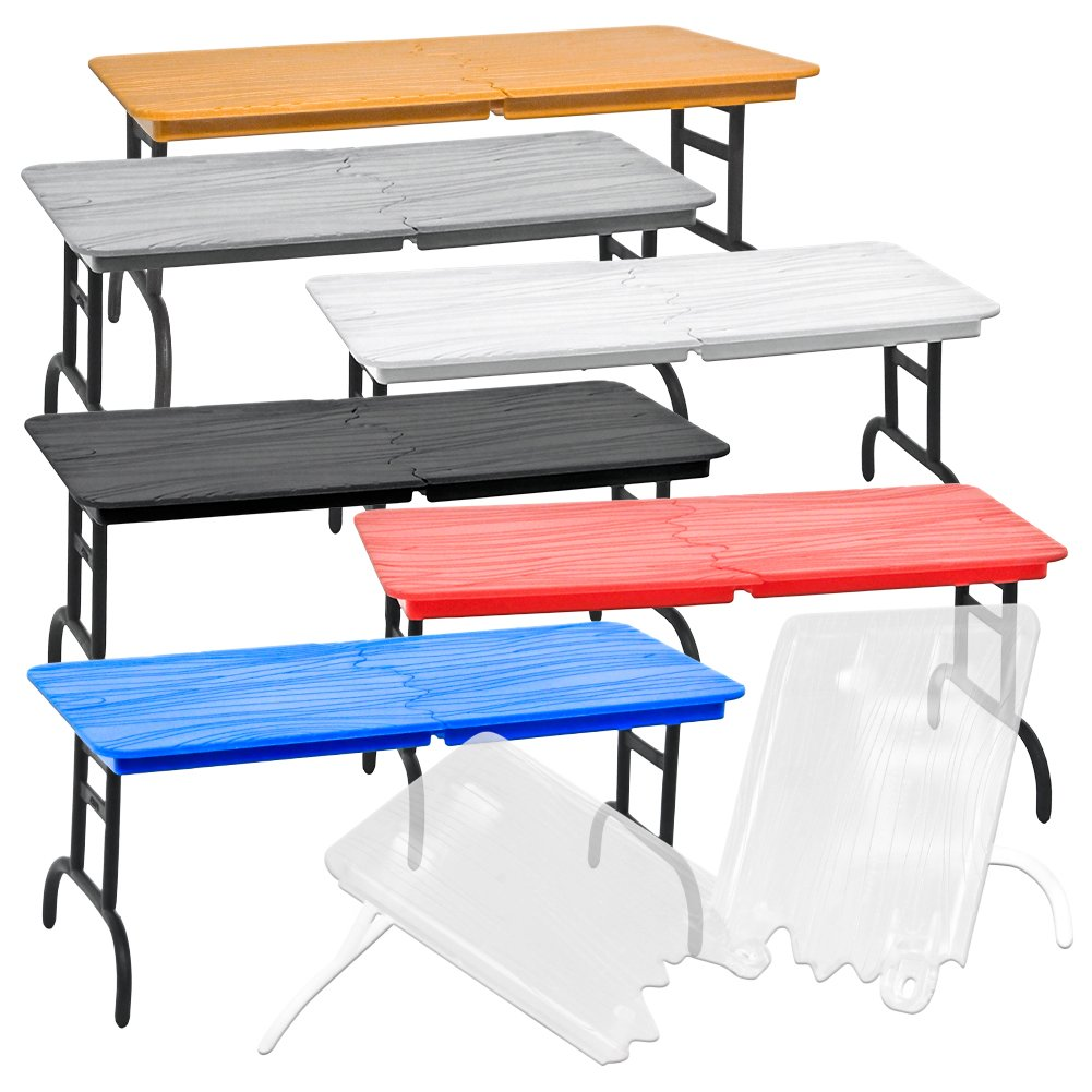 Set of 7 Different Colored Break Away Tables for WWE Wrestling Action Figures