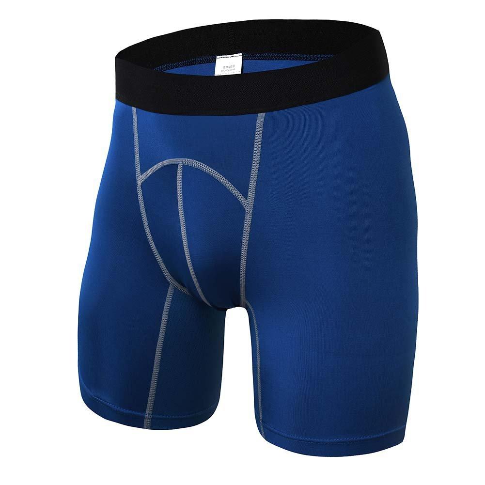 Yalatan Uomo raffreddamento asciugatura Boxershort Compression Base Layer Collant Running Gym Fitness Shorts Pantaloni