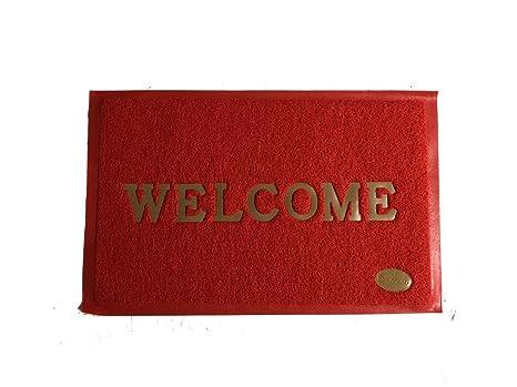 Buy Tapis Premium Pvc Door Mat 15 X 23 Inch Red Online At Low