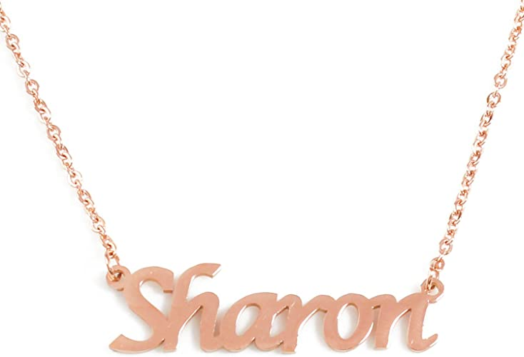 Name Necklace MIKAYLA Wedding Anniversary Gifts For Her 18ct Gold Plated