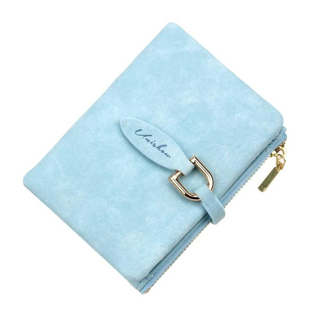 Women's RFID Blocking Pocket Wallet Ladies Mini Purse with zipper Card holder