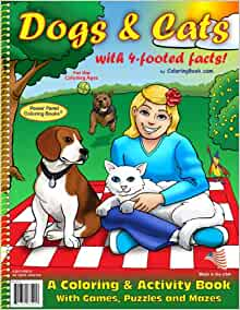 Dogs And Cats Coloring Book 85x11 ColoringBook