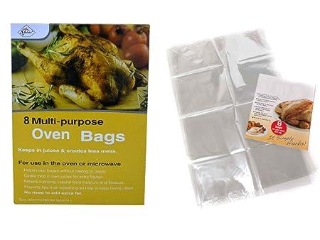 St@llion - Bolsa de horno para asar carne, aves de corral, pescado, mariscos, verduras, horno, microondas, cocina