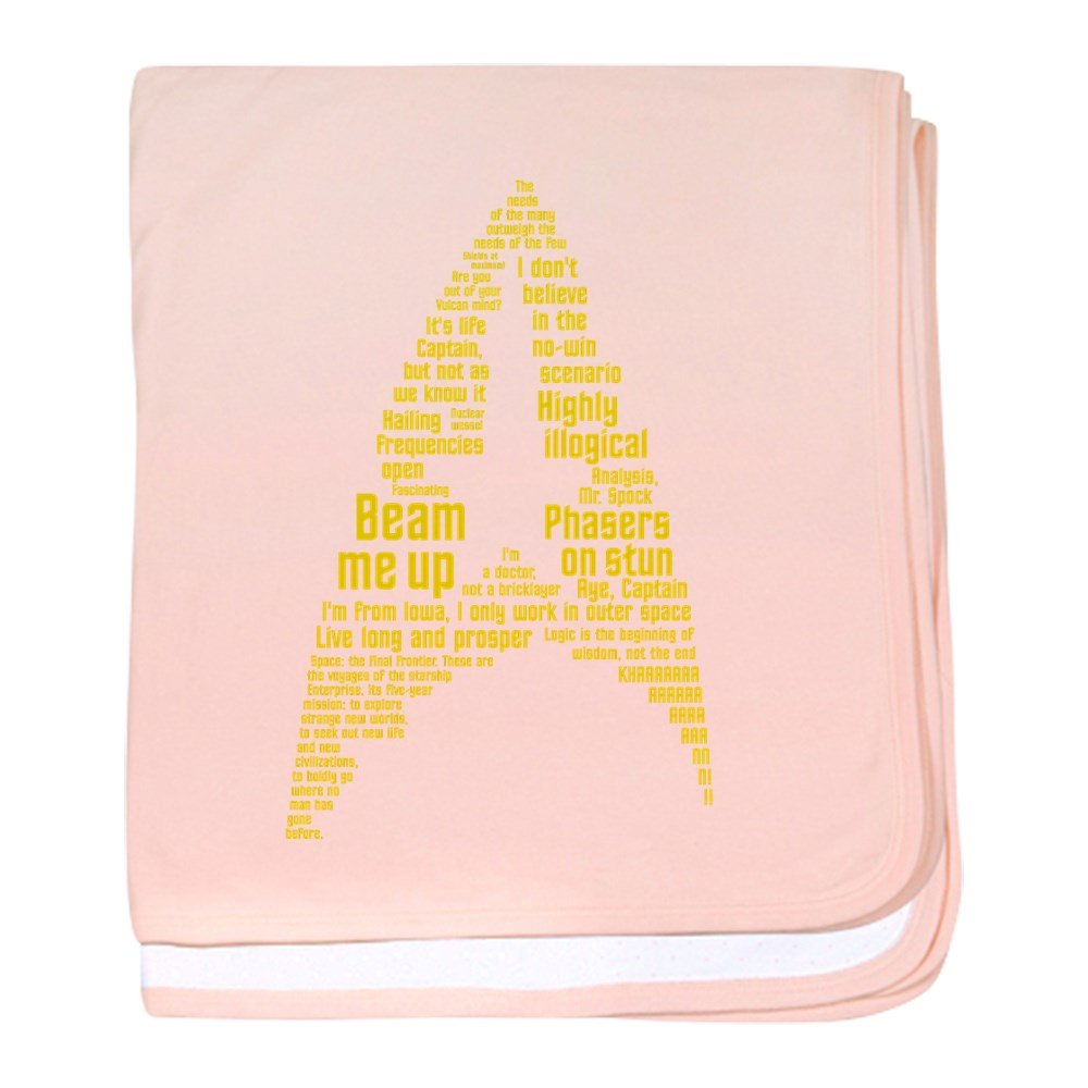 CafePress - Star Trek Quotes (Insignia) - Baby Blanket, Super Soft Newborn Swaddle by CafePress