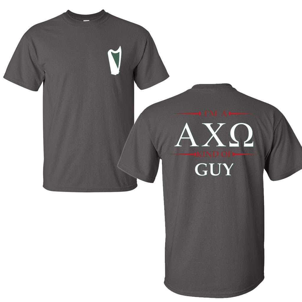 Black t shirt guy - Alpha Chi Omega Boyfriend Shirt Im A Axo Kind Of Guy At Amazon Men S Clothing Store