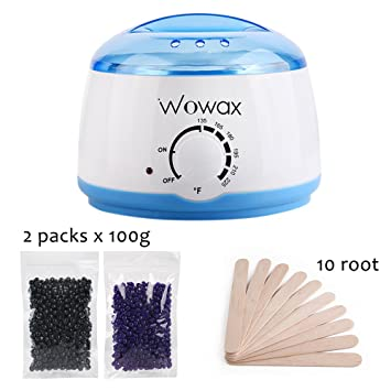 Amazon Com Wowax Personal Wax Warmer Hair Removal Waxing Kit For