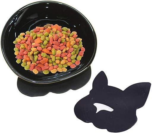YMAXGO Ceramics Single Food Feeding Bowl for Flat Face Dogs, Non-Slip Design