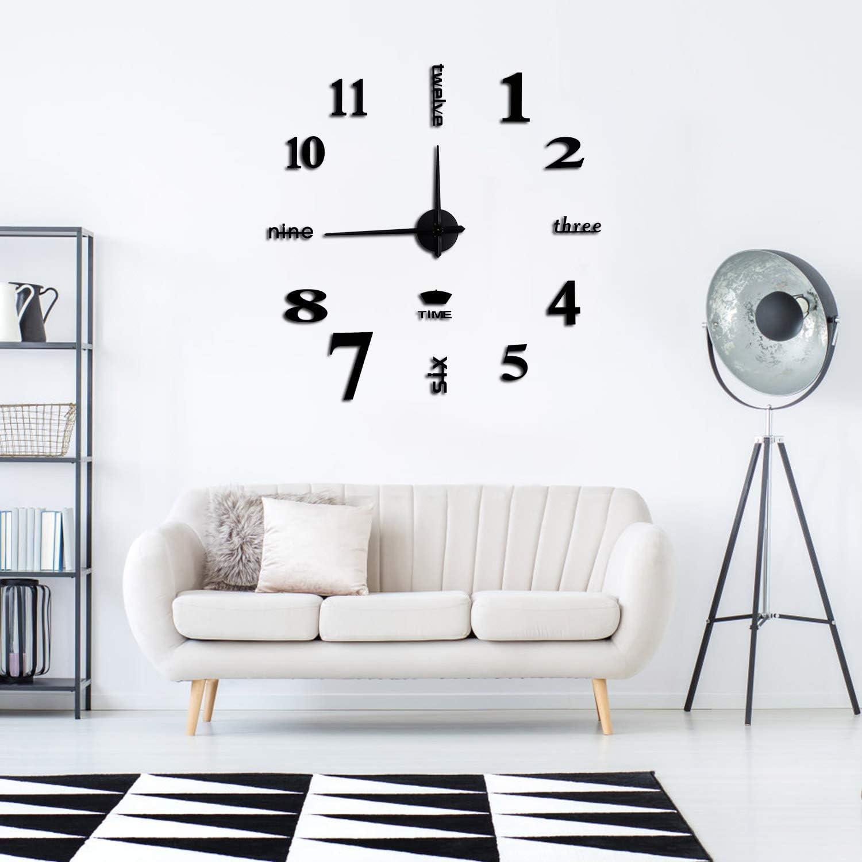 Clock 3d Acrylic Mirror Wall Stickers Diy Irregular Clock Composed Wall Art Decals Wallpaper Home Decor For Living Room Bedroom Decoration Wall Clocks Home Urbytus Com