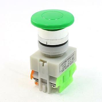sourcingmap Iu 660V 10A Interruptor giratorio pulsador de botón de parada de emergencia encendido signo rojo: Amazon.es: Bricolaje y herramientas