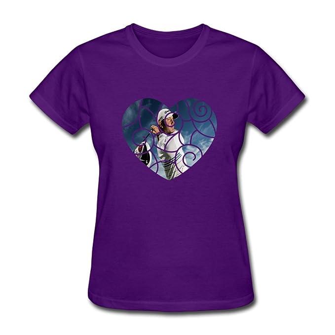 Mujer moda en blanco Dustin Johnson tee-shirts: Amazon.es: Ropa y accesorios