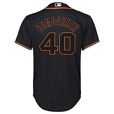 outlet store 6e98a 13995 Majestic Madison Bumgarner San Francisco Giants MLB Youth Black Alternate  Replica Jersey (Youth X-