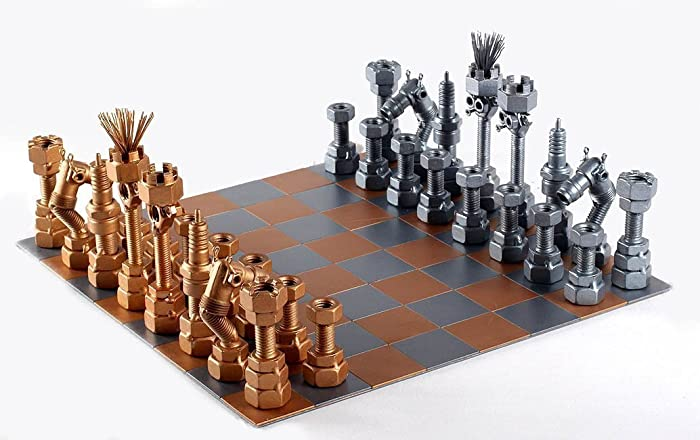 Chess Set   Metaldiorama Metal Art