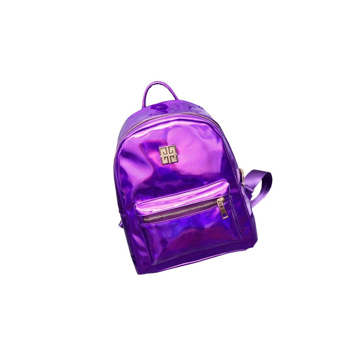 ThinkMax Women Fashion NewGirl Hologram Holographic Laser PVC School Backpack Bag Purple UK-I13835-LOVE