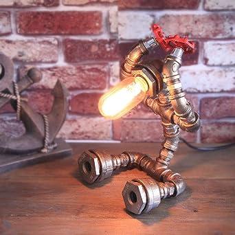 Lámpara de mesa industrial, Casa Decoración de la sala Lámpara de ...