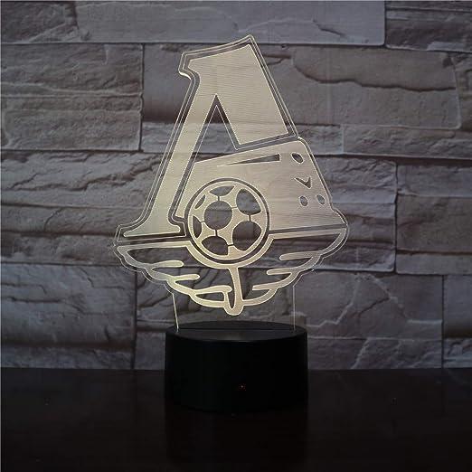 KangYD Fc Lokomotiv Football Club 3D Night Light, Office ...