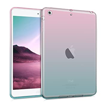 kwmobile Funda para Apple iPad Mini 2 / iPad Mini 3 - Carcasa [Trasera] para Tablet de [Silicona TPU] - Cover en [Rosa Fucsia/Azul/Transparente]