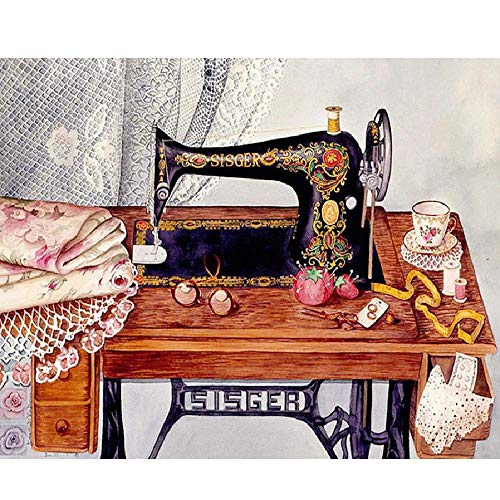 1000 Piece Puzzle - Sewing Machine Landscape Pattern - Entertainment Toys for Adult Special Graduation or Birthday Gift
