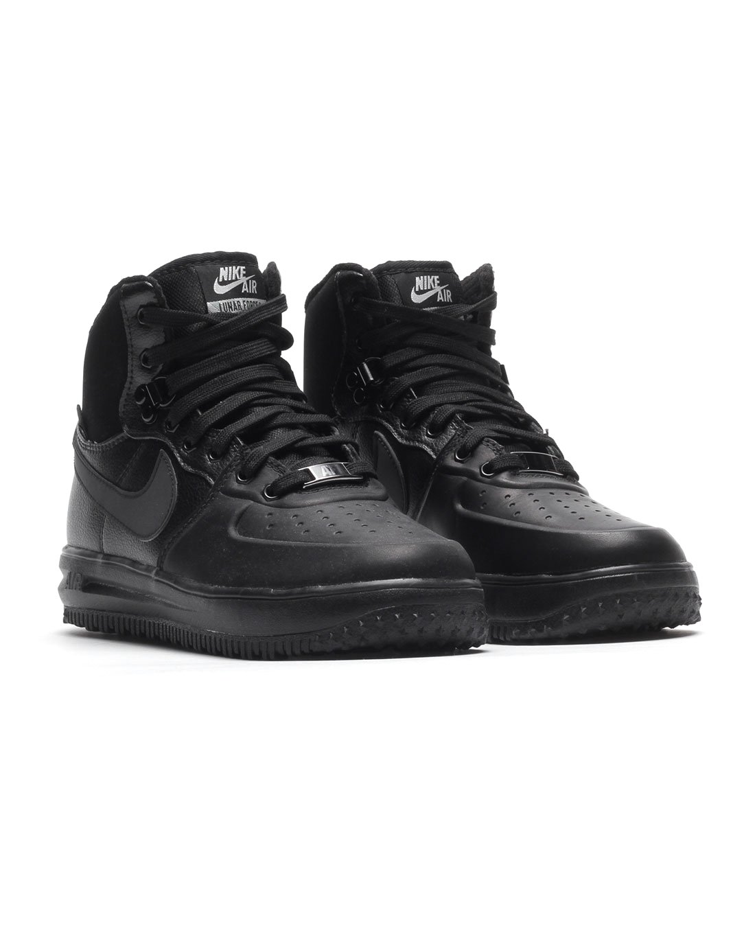 Nike Lunar Force 1 Sneakerboot (GS) Black/Black-Metallic Silver (4.5Y) by Nike (Image #2)