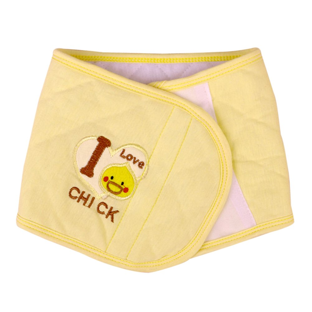 domybest Toddler Bebé manta con forma de cordón umbilical pantalla banda mantener caliente Ombligo cinturón amarillo amarillo