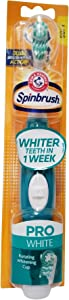 4 Pack: Arm and Hammer Spinbrush Pro Whitening Soft, Colors May Vary