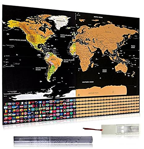 Amazon scratch off world map poster with all us stats outlined scratch off world map poster with all us stats outlinedfree e book gumiabroncs Image collections