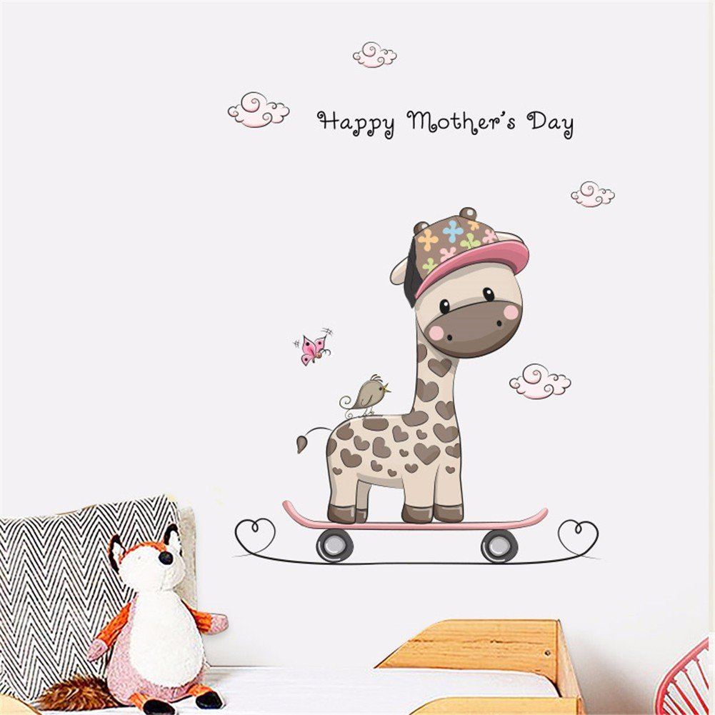 KTPMXX Anime Cartoon Giraffe Aufkleber Kind Kind Baby Zimmer ...