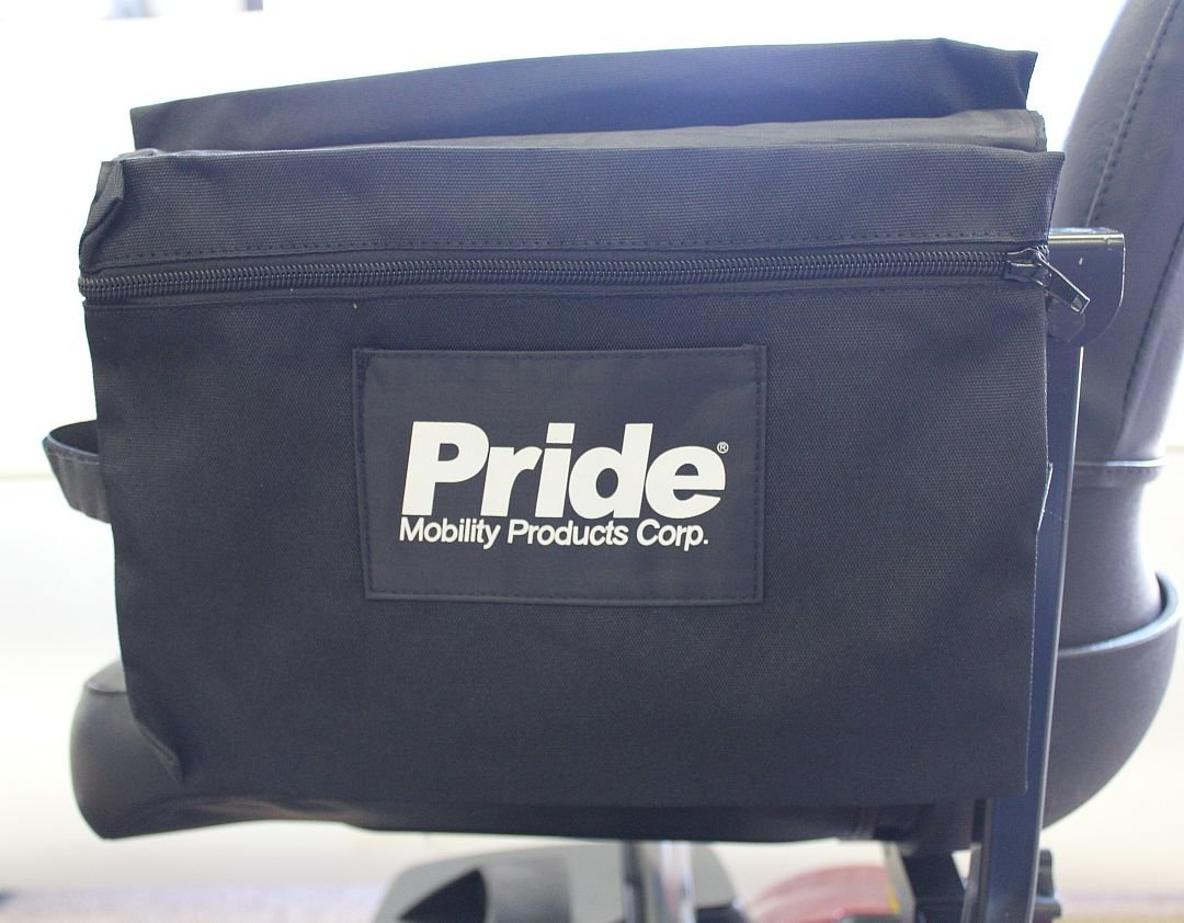 Pride Mobility LARGE Dual Saddle Armrest Mount Bag for Scooter and Powerchair