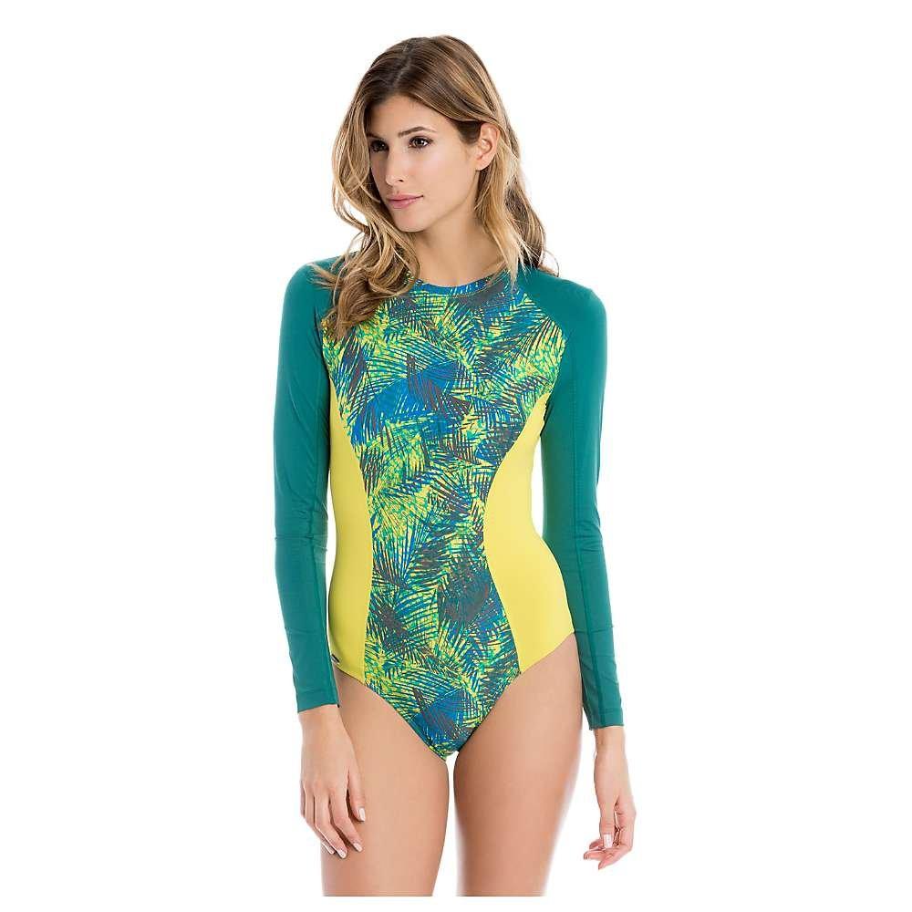 Lole Women's Navagio One-Piece Rashguard Spring Tropical Swimsuit MD