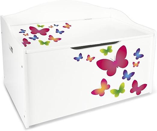 Baúl Para Juguetes XL Caja de Madera Almacenamiento Baúl Infantil ...