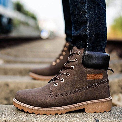 À D'hiver Cuir Brun Automne Classiques De Fourrure Chaussures Bottes Sécurité En Bottines Chaud Moonuy Hommes Doublé Résistant L'eau OZwxTXT
