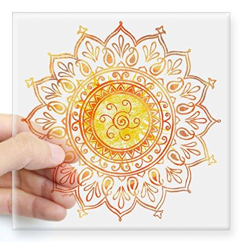 CafePress - Decorative Sun Square Sticker 3
