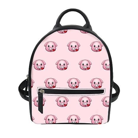 f548f087d0 Amazon.com  Durable Backpacks For Women Cute Kawaii Pig Pattern Classic  Fashion Daypack Bag  Fire Work