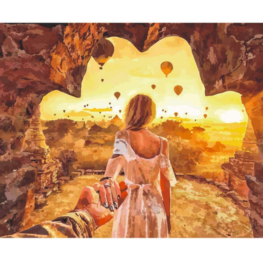 Waofe Sehnsucht Nach Höhlen Abbildung Diy Digitale Malen Nach Zahlen Moderne Wandkunst Leinwand Malerei Einzigartiges Geschenk Home Decor - With Frame