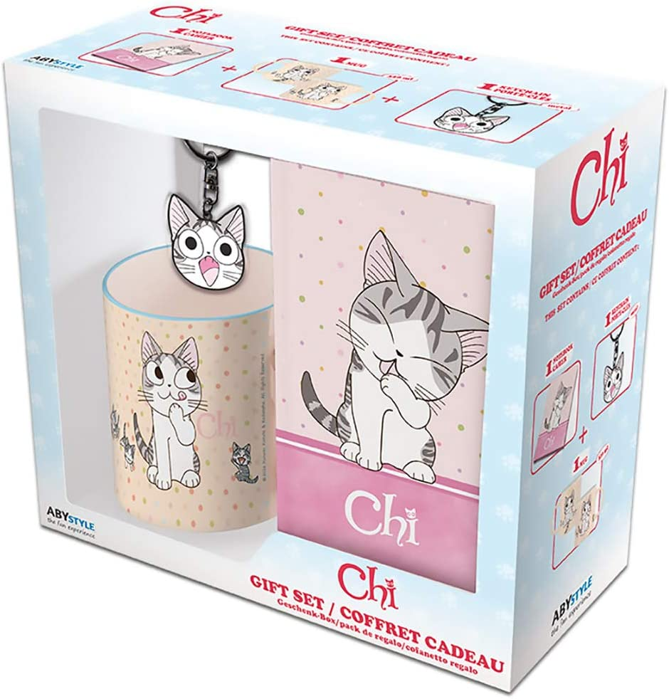 Chi's Sweet Home - Chi Cat-Lover's Gift Set (Includes Mug, Notebook, and Keychain)