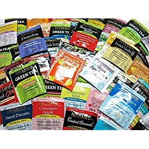 Geenbow Bigelow Tea Sampler 108 Classic Flavor Assortment Tea Bags in Foil with Rich Flavor Variations and Gift Box