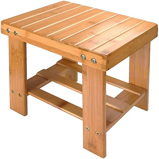 Amazon Com Tenozek Bamboo Small Step Stool For Kids Mini Wood Foot Stool 10 Inch High Multi Functional Wooden Stool Seat Foot Rest Ideal For Entryway Foyer Hallway Garden 11 X 9 X 10 Wood
