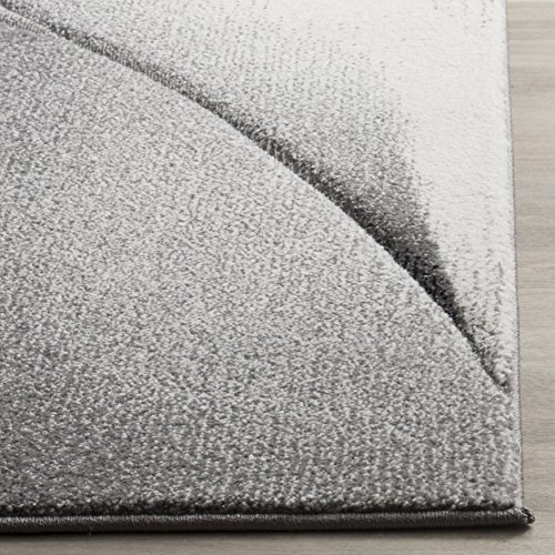Safavieh Hollywood Collection HLW716G Grey and Dark Grey Mid-Century Modern Abstract Runner (2'2 x 8')
