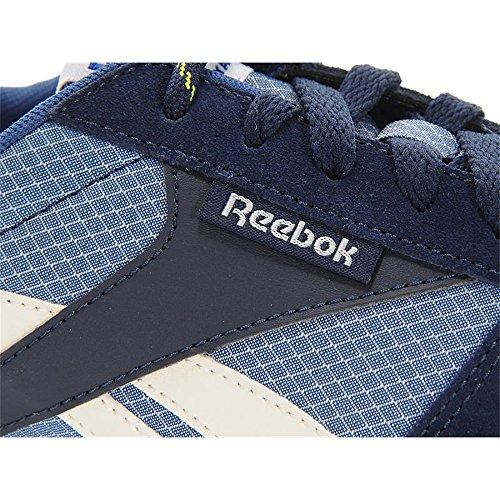 Reebok, Scarpe stringate uomo Blu Faux Indigo/Batik Blue/Chalk/Ultra Lime 40