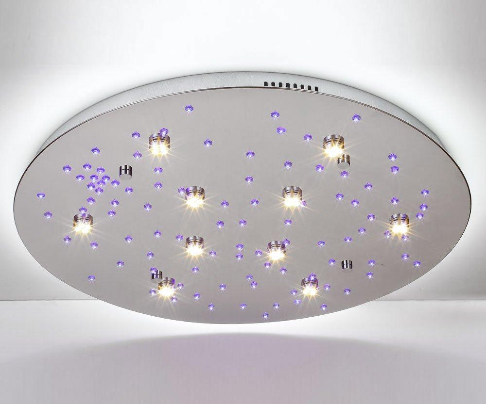 Wohnzimmerlampe Decke Modell : Stars l Ø cm led deckenleuchte m fernbedienung farbwechsel