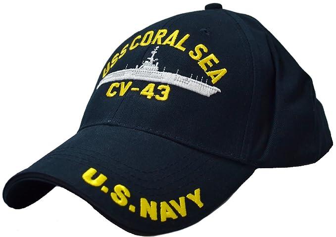 Amazon.com  Eagle Crest USS Coral Sea CV-43 Low Profile Cap Navy ... b2b981b3c902