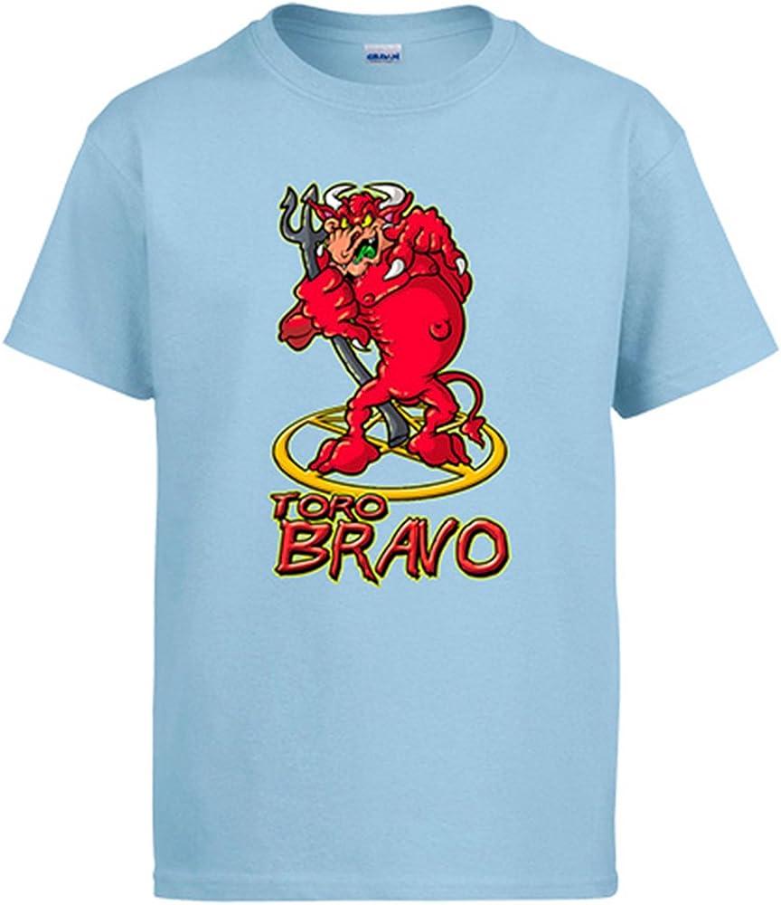 Diver Camisetas Camiseta Toro Bravo - Celeste, S: Amazon.es: Ropa y accesorios